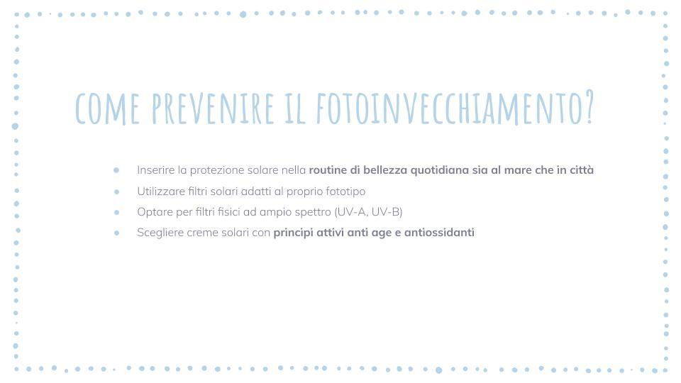 prevenire il fotoinvecchiamento